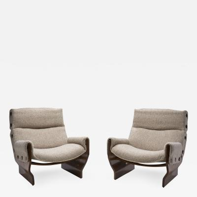 Osvaldo Borsani Canada Lounge Chairs by Osvaldo Borsani for Tecno Italy 1960s