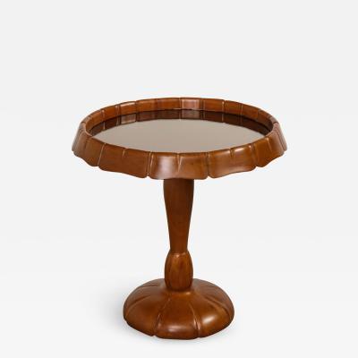 Osvaldo Borsani Carved Pedestal Table attributed to Osvaldo Borsani
