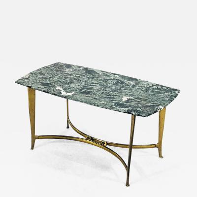 Osvaldo Borsani Coffee table by Osvaldo Borsani of 1950 in marble and brass