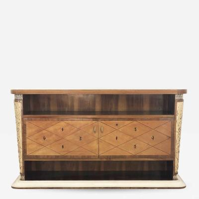 Osvaldo Borsani Console by Osvaldo Borsani from 1940 in carved wood