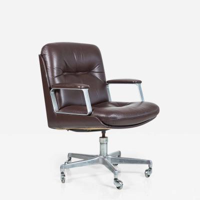 Osvaldo Borsani Italian Leather Office Chair Four Available