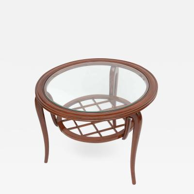 Osvaldo Borsani Italian Modern Mahogany and Glass Cocktail or Occasional Table