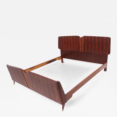 Osvaldo Borsani Mid Century Modern Italian Bed Frame after Borsani