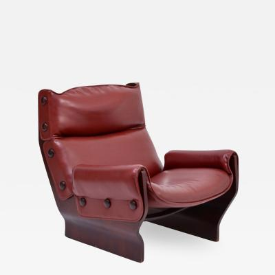 Osvaldo Borsani Mid Century Modern P110 Canada Lounge Chair by Osvaldo Borsani for Tecno
