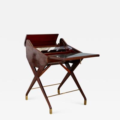 Osvaldo Borsani MidCentury Bar Cabinet attributed to Osvaldo Borsani in mahogany 1950s