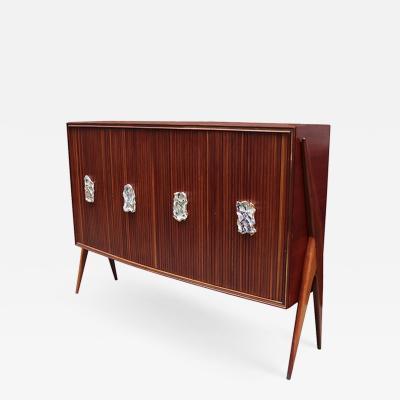 Osvaldo Borsani Modernist Four Door Cabinet by Oswaldo Borsani
