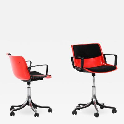 Osvaldo Borsani Office Chairs Model Modus Produced in Tecno
