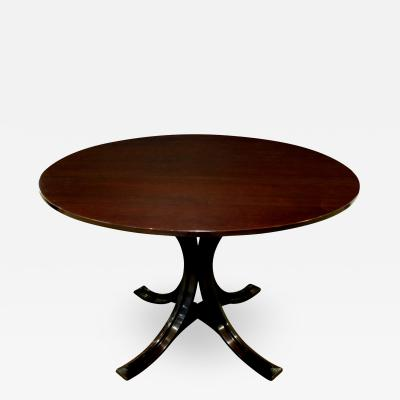 Osvaldo Borsani Osvaldo Borsani Elegant Table in Mahogany with Bentwood Base ca 1960