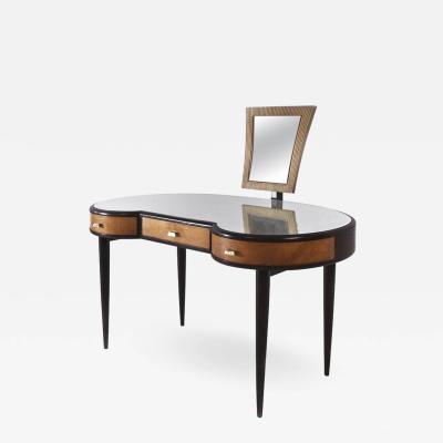 Osvaldo Borsani Osvaldo Borsani Italian Mid Century Modern Dresser in Wood with Mirror 1950s