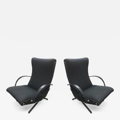 Osvaldo Borsani Osvaldo Borsani Rare Pair of P40 Lounge Chairs for Tecno Fully Restored