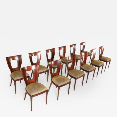 Osvaldo Borsani Osvaldo Borsani Triennale Original Dining Chairs Set of 12 1950s