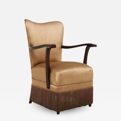 Osvaldo Borsani Osvaldo Borsani armchair for ABV beige in original fabric published 1950s