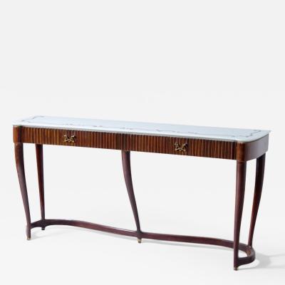 Osvaldo Borsani Osvaldo Borsani console table model 7103 with curved base