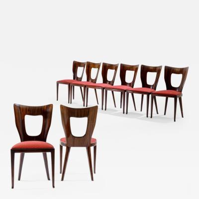 Osvaldo Borsani Osvaldo Borsani important set of eight Triennale chairs
