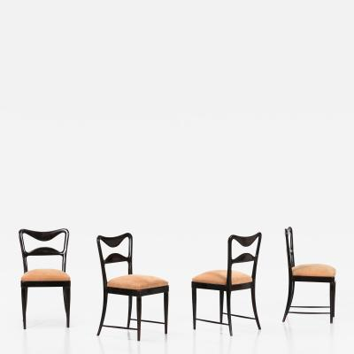 Osvaldo Borsani Osvaldo borsani dining chairs set from 1940