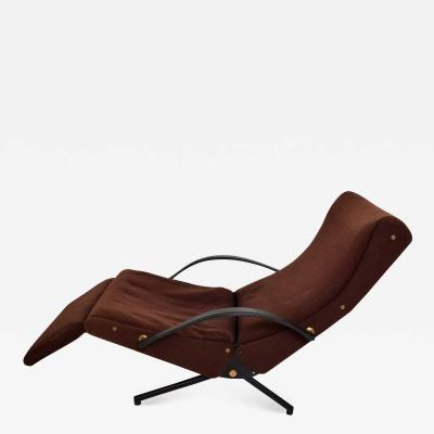 Osvaldo Borsani P40 Chaise Lounge Chair by Osvaldo Borsani in Brown for TECNO of Italy 1960s