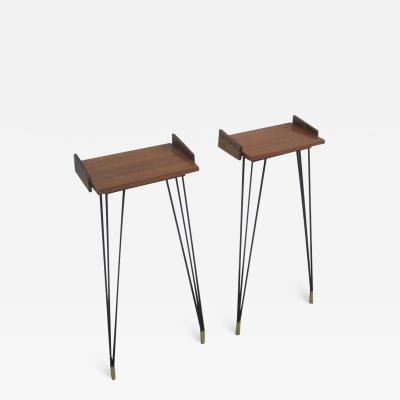 Osvaldo Borsani Pair of Italian Mid Century Modern Consoles or Nightstands by Osvaldo Borsani