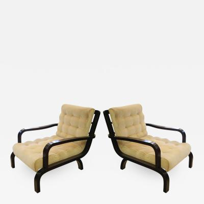 Osvaldo Borsani Pair of Italian design lounge armchairs