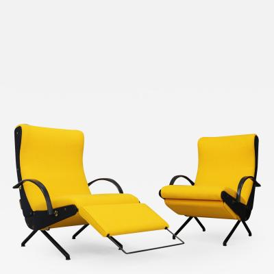 Osvaldo Borsani Pair of MidCentury Italian P40 Osvaldo Borsani for Tecno first edition 1950