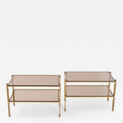 Osvaldo Borsani Pair of Osvaldo Borsani Brass Coffee Tables c 1958