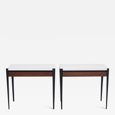 Osvaldo Borsani Pair of Osvaldo Borsani P68 Side Tables by Tecno