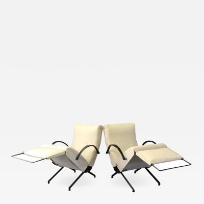 Osvaldo Borsani Pair of P40 Lounge Chairs by Osvaldo Borsani for Tecno 1950s