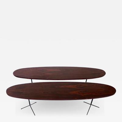 Osvaldo Borsani Pair of Rosewood Coffee Tables by Osvaldo Borsani for Tecno