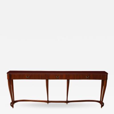 Osvaldo Borsani Rare 3 Drawer Console Table 7103 by Osvaldo Borsani for ABV
