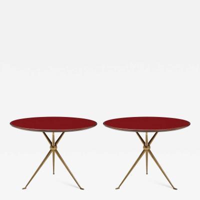Osvaldo Borsani Rare Pair of Side Tables