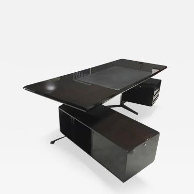 Osvaldo Borsani Rosewood Executive Desk by Osvaldo Borsani for Tecno Milano