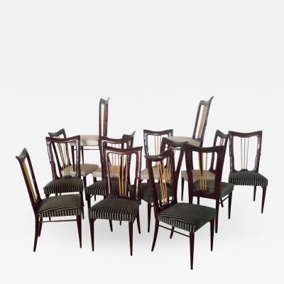 Osvaldo Borsani Set of 14 Dining Chairs