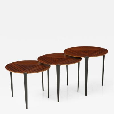 Osvaldo Borsani Set of 3 Nesting Tables Model T61