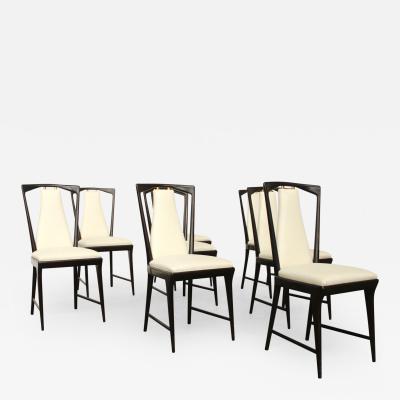 Osvaldo Borsani Set of 8 Osvaldo Borsani Dining Chairs Newly Upholstered