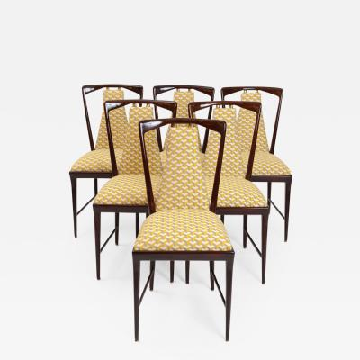 Osvaldo Borsani Set of 8 Osvaldo Borsani Dining Chairs c 1950