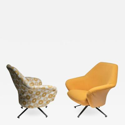 Osvaldo Borsani Set of Two P32 Lounge Chairs by Osvaldo Borsani for Tecno