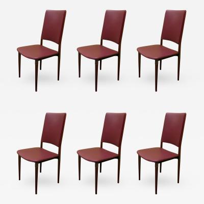 Osvaldo Borsani Six Osvaldo Borsani 1960 Chairs for Tecno