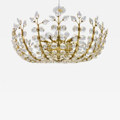 Oswald Haerdtl Oswald Haerdtl Chandelier vor Lobmeyr Austria 1955 Brass and Crystal Glass