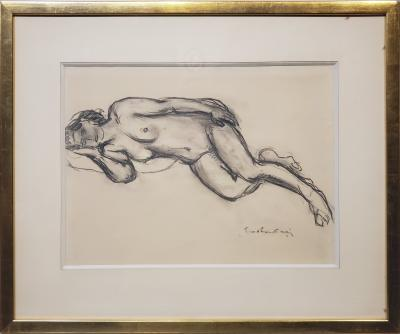Othon Friesz Chalk Drawing of a Nude Female Signed By Othon Friesz