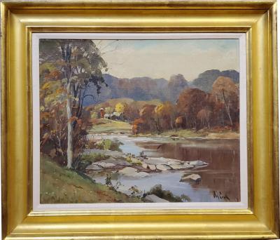 Otis Pierce Cook Landscape Oil Painting by Otis Cook