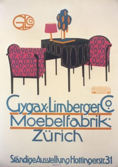 Otto Baumberger Swiss Furniture Poster by Otto Baumberger 1911