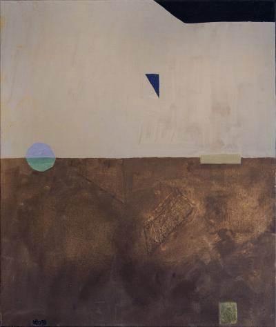 Otto Rogers Floating Triangle With a Circle in a Landscape