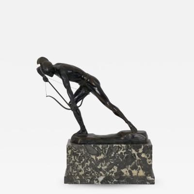 Otto Schmidt Hofer The Enemy Below Art Deco Bronze Sculpture of an Archer by Otto Schmidt Hofer