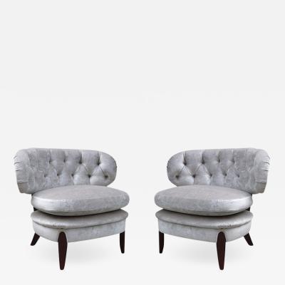 Otto Schultz Pair of Otto Schulz Lounge Chairs