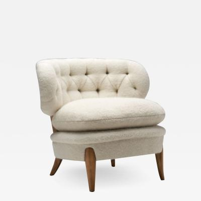 Otto Schultz Schulz Lounge Chair by Otto Schulz for Jio M bler J nk ping Sweden 1940s