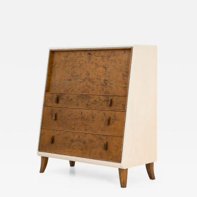 Otto Schultz Swedish Modern Bureau by Otto Schulz for Boet 1940s