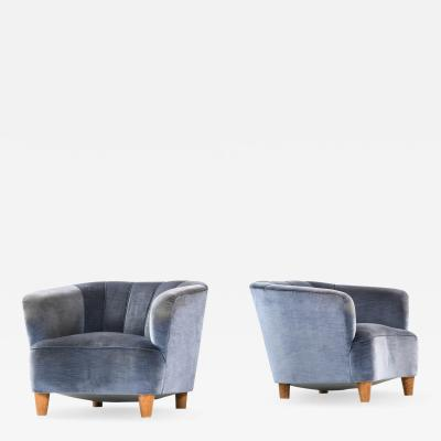 Otto Schulz Easy Chairs Produced by Boet