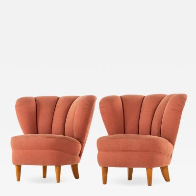 Otto Schulz Easy Chairs Produced in Sweden