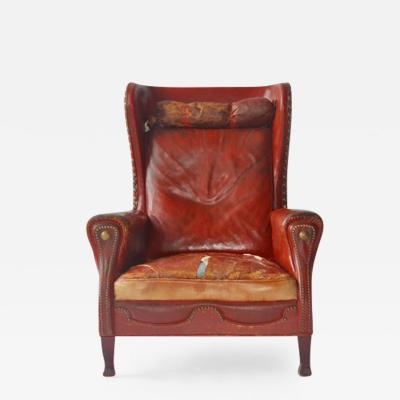 Otto Schulz Leather Lounge Chair by Otto Schulz