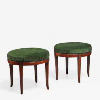 Otto Schulz Pair of Boet stools Sweden 1920s 30s