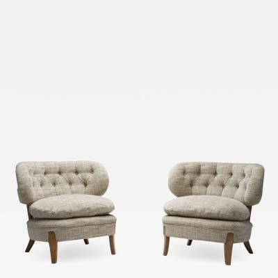 Otto Schulz Schulz Lounge Chairs by Otto Schulz for Jio M bler J nk ping Sweden 1960s